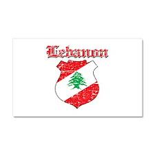 Lebanon Coat Of Arms Car Magnet 20 x 12