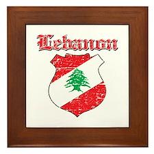 Lebanon Coat Of Arms Framed Tile