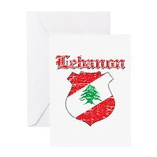 Lebanon Coat Of Arms Greeting Card
