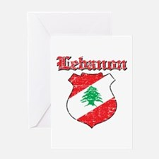 Lebanon Coat Of Arms Greeting Card