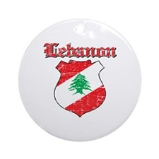 Lebanon Coat Of Arms Ornament (Round)