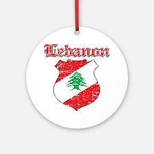 Lebanon Coat Of Arms Ornament (Round)