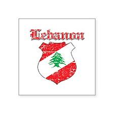 "Lebanon Coat Of Arms Square Sticker 3"" x 3"""