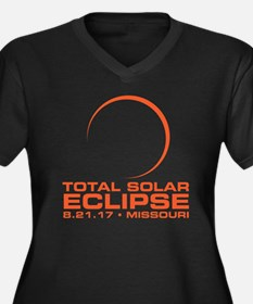Unique Eclipse 2017 Women's Plus Size V-Neck Dark T-Shirt