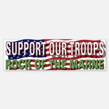 SupportTroops/Rock Bumper Bumper Bumper Sticker