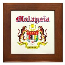 Malaysia Coat Of Arms Framed Tile