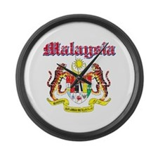 Malaysia Coat Of Arms Large Wall Clock