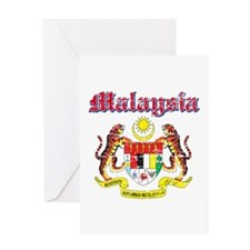 Malaysia Coat Of Arms Greeting Card