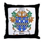 Lees Coat of Arms Throw Pillow