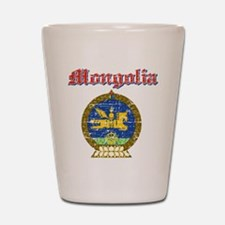 Mongolia Coat Of Arms Shot Glass