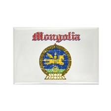 Mongolia Coat Of Arms Rectangle Magnet