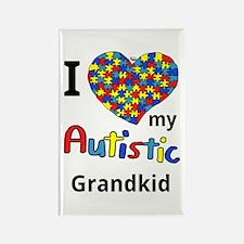 Autistic Grandkid Rectangle Magnet