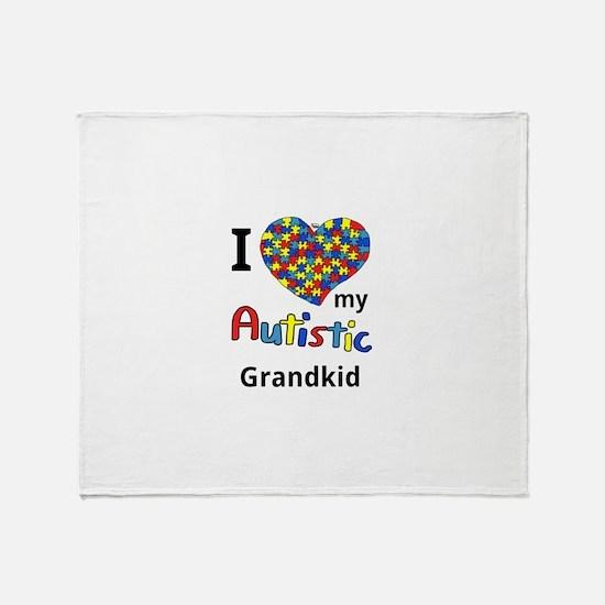 Autistic Grandkid Throw Blanket