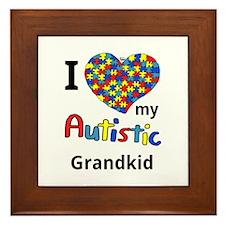 Autistic Grandkid Framed Tile
