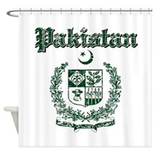 Pakistan Coat Of Arms Shower Curtain