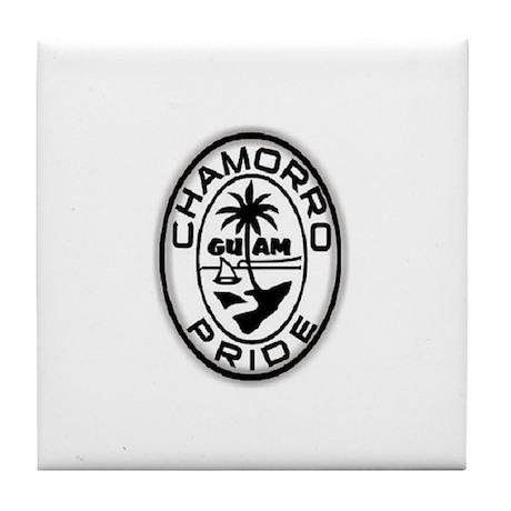 chamorro pride logo Tile Coaster