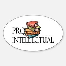 Pro-Intellectual<br> Oval Decal