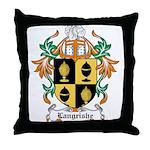 Langrishe Coat of Arms Throw Pillow