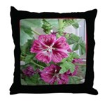 Purple Malva Cluster Throw Pillow