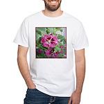 Purple Malva Cluster White T-Shirt