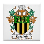 Langford Coat of Arms Tile Coaster