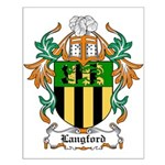 Langford Coat of Arms Small Poster