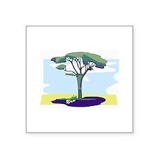 "Tree Square Sticker 3"" x 3"""