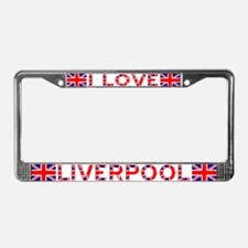 I LOVE LIVERPOOL License Plate Frame 2