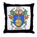 Lamont Coat of Arms Throw Pillow