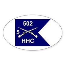 HHC 5/502nd Oval Decal