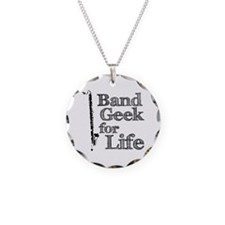 Bass Clarinet Band Geek Necklace Circle Charm