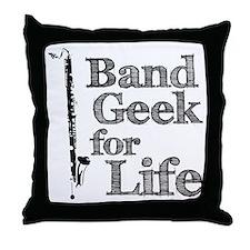 Bass Clarinet Band Geek Throw Pillow