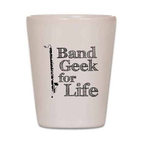 Bass Clarinet Band Geek Shot Glass