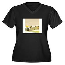 Tree Women's Plus Size V-Neck Dark T-Shirt
