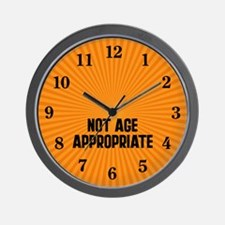 Not Age Appropriate Wall Clock