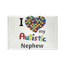 Autistic Nephew Rectangle Magnet