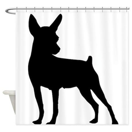 Shadow Miniature Pinscher v1 Shower Curtain