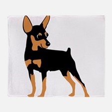 Cartoon Miniature Pinscher 1 Throw Blanket