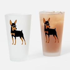 Cartoon Miniature Pinscher 1 Drinking Glass