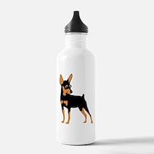 Cartoon Miniature Pinscher 1 Water Bottle