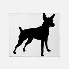 Shadow Miniature Pinscher v4 Throw Blanket