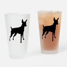Shadow Miniature Pinscher v4 Drinking Glass