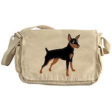 Cartoon Miniature Pinscher 1 Messenger Bag