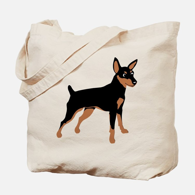 Cartoon Miniature Pinscher 1 Tote Bag