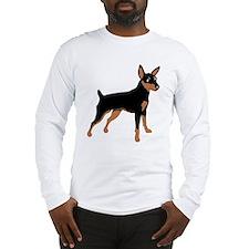 Cartoon Miniature Pinscher 1 Long Sleeve T-Shirt