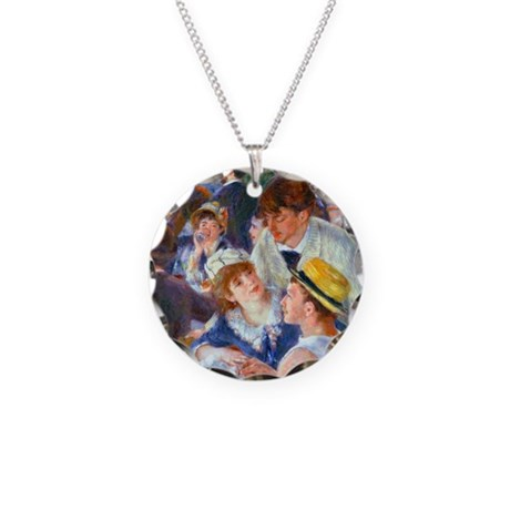 Renoir - Boating Party Necklace Circle Charm
