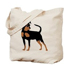 Cartoon Miniature Pinscher 2 Tote Bag