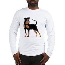 Cartoon Miniature Pinscher 2 Long Sleeve T-Shirt