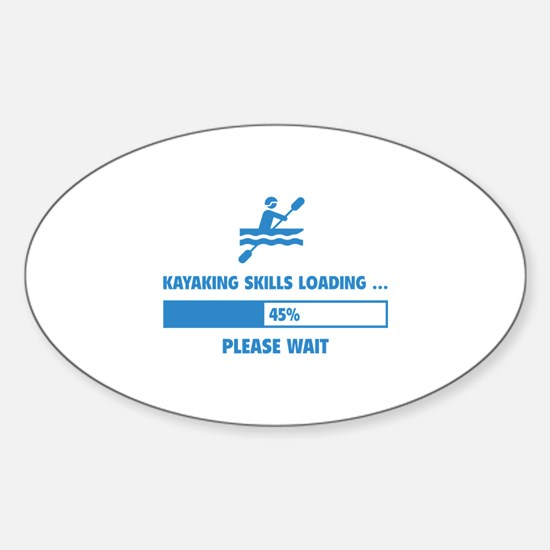 Kayaking Skills Loading Sticker (Oval)