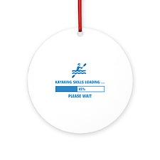 Kayaking Skills Loading Ornament (Round)